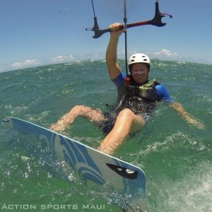 Learn the waterstart during your kiteboarding lessons